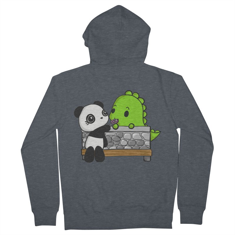 Sharing is Caring Women's Zip-Up Hoody by Dino & Panda Inc Artist Shop