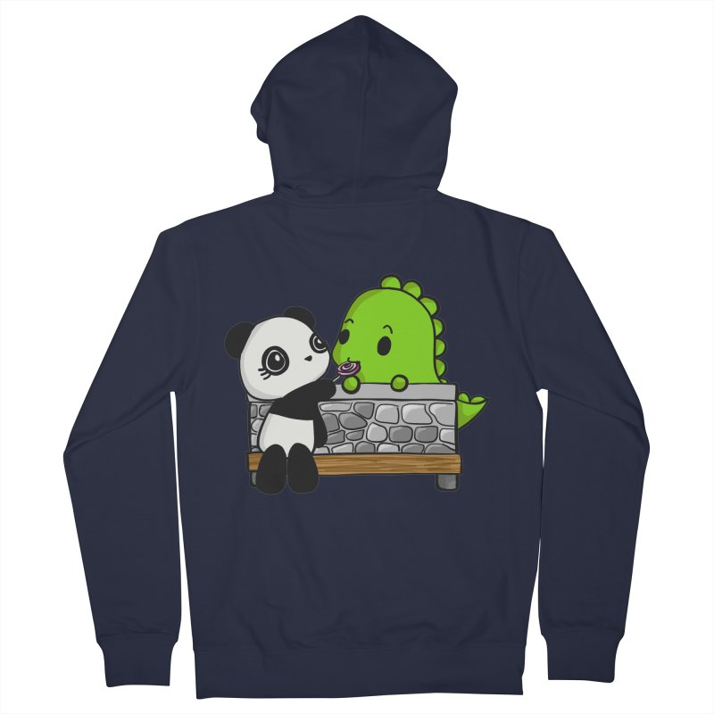 Sharing is Caring Women's French Terry Zip-Up Hoody by Dino & Panda Inc Artist Shop