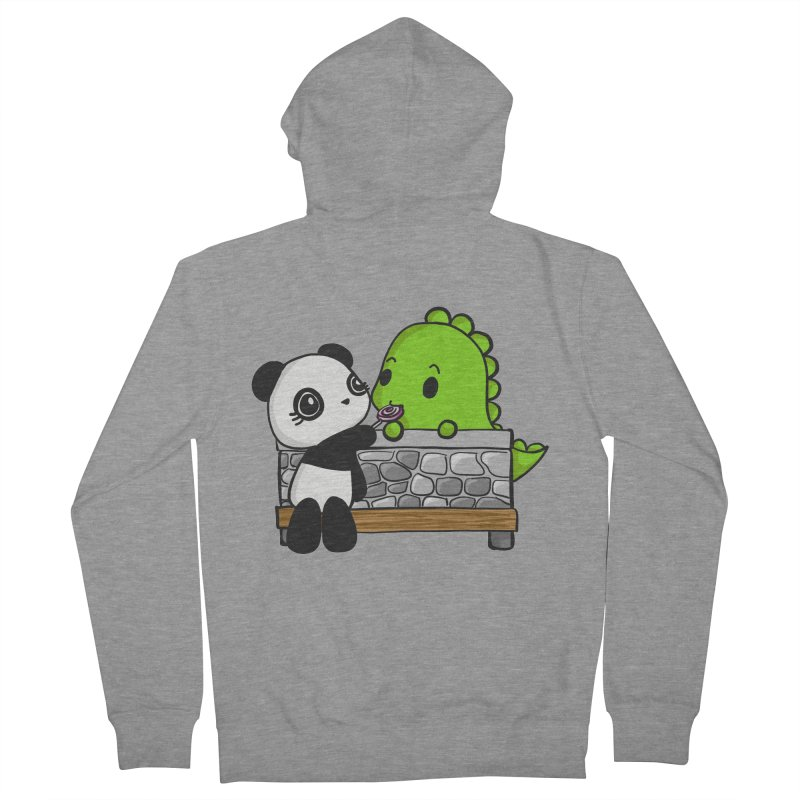 Sharing is Caring Men's Zip-Up Hoody by Dino & Panda Inc Artist Shop