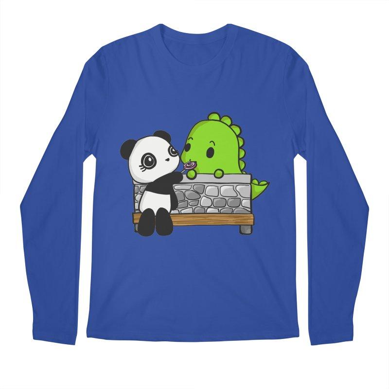Sharing is Caring Men's Regular Longsleeve T-Shirt by Dino & Panda Inc Artist Shop