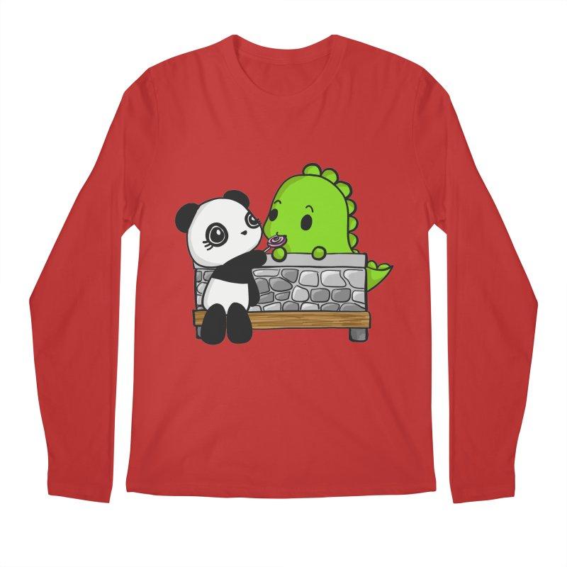 Sharing is Caring Men's Longsleeve T-Shirt by Dino & Panda Inc Artist Shop