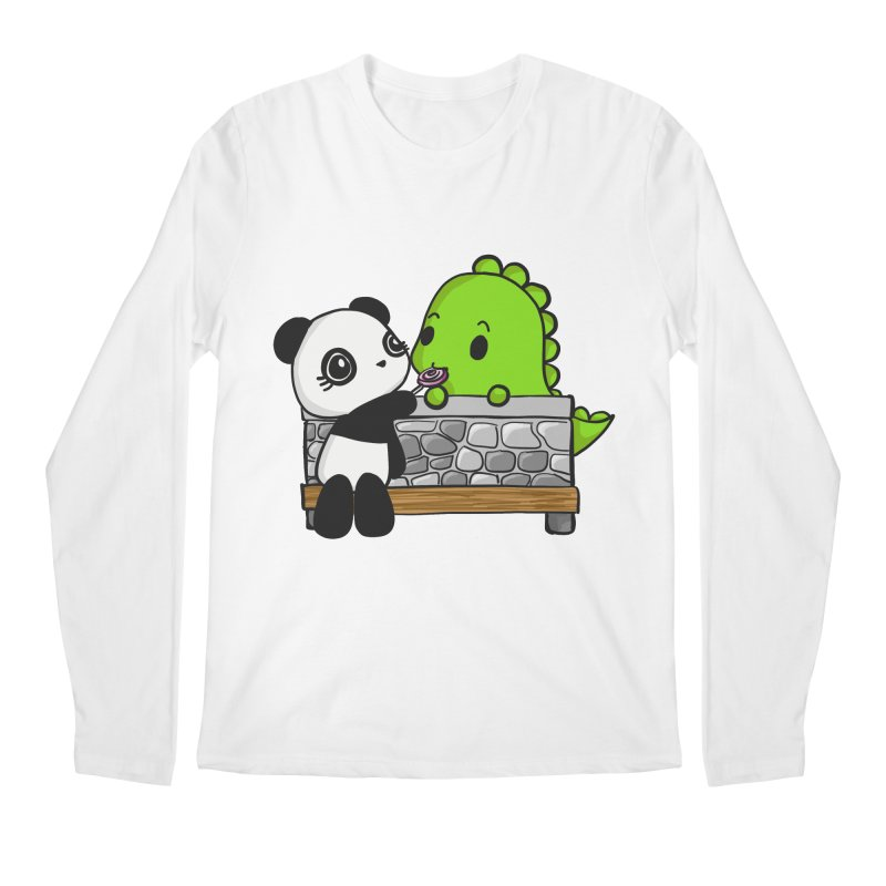 Sharing is Caring Men's Regular Longsleeve T-Shirt by Dino & Panda Inc Artist Shop