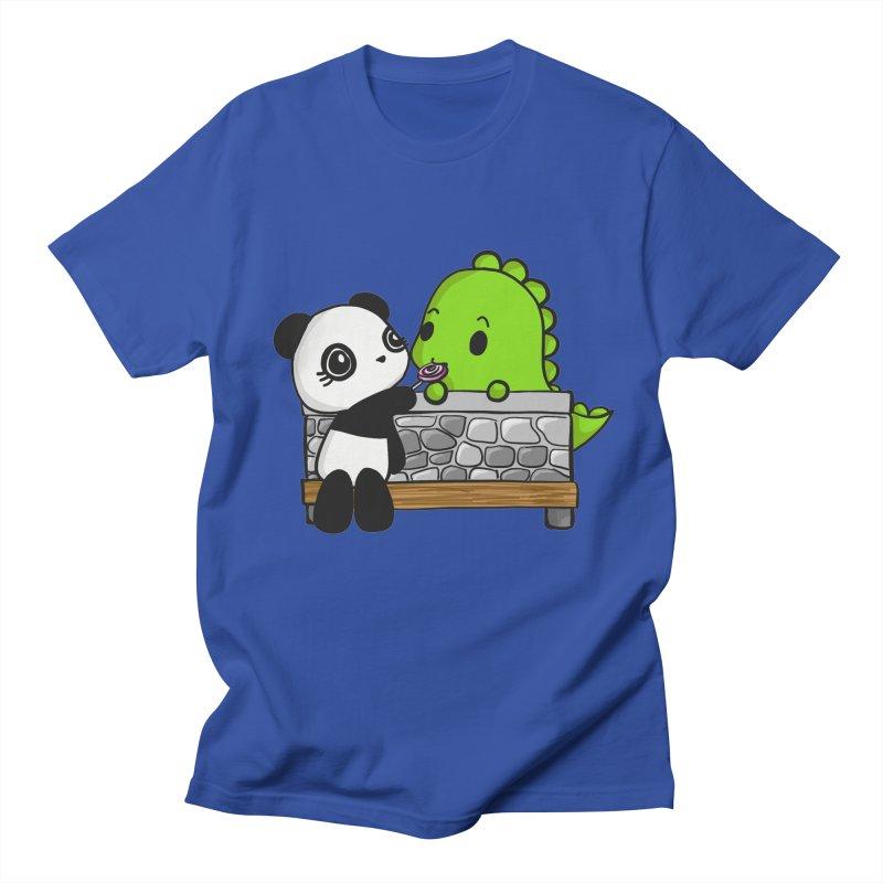 Sharing is Caring Men's Regular T-Shirt by Dino & Panda Inc Artist Shop