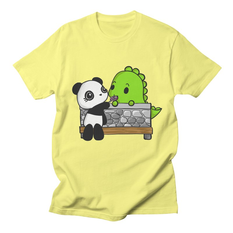 Sharing is Caring Men's T-Shirt by Dino & Panda Inc Artist Shop