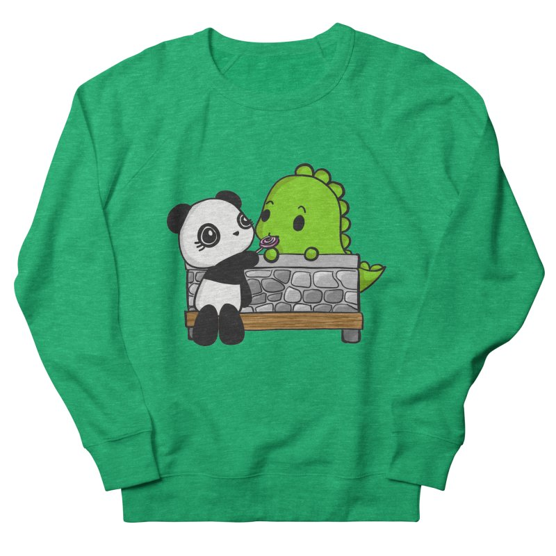 Sharing is Caring Women's French Terry Sweatshirt by Dino & Panda Inc Artist Shop