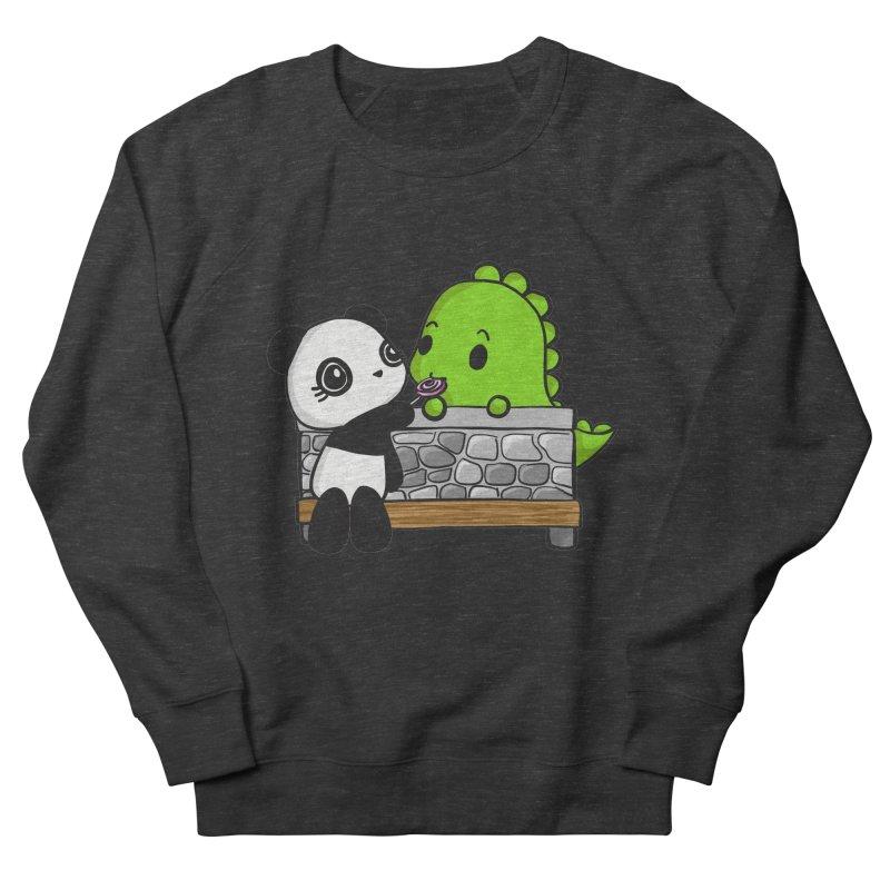 Sharing is Caring Women's French Terry Sweatshirt by Dino & Panda Inc Artist Shop