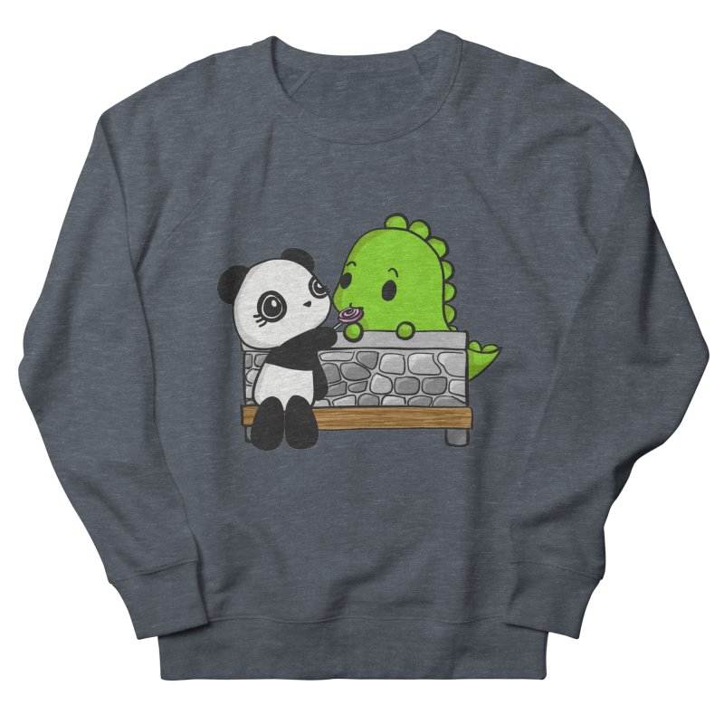 Sharing is Caring Men's French Terry Sweatshirt by Dino & Panda Inc Artist Shop
