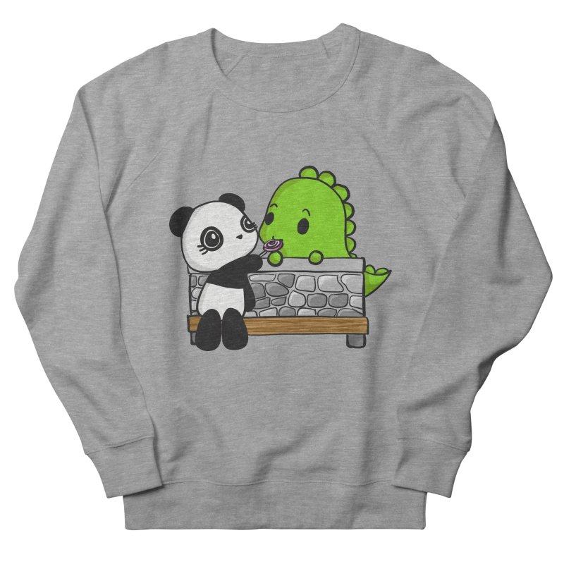 Sharing is Caring Men's French Terry Sweatshirt by Dino & Panda Inc Artist Shop