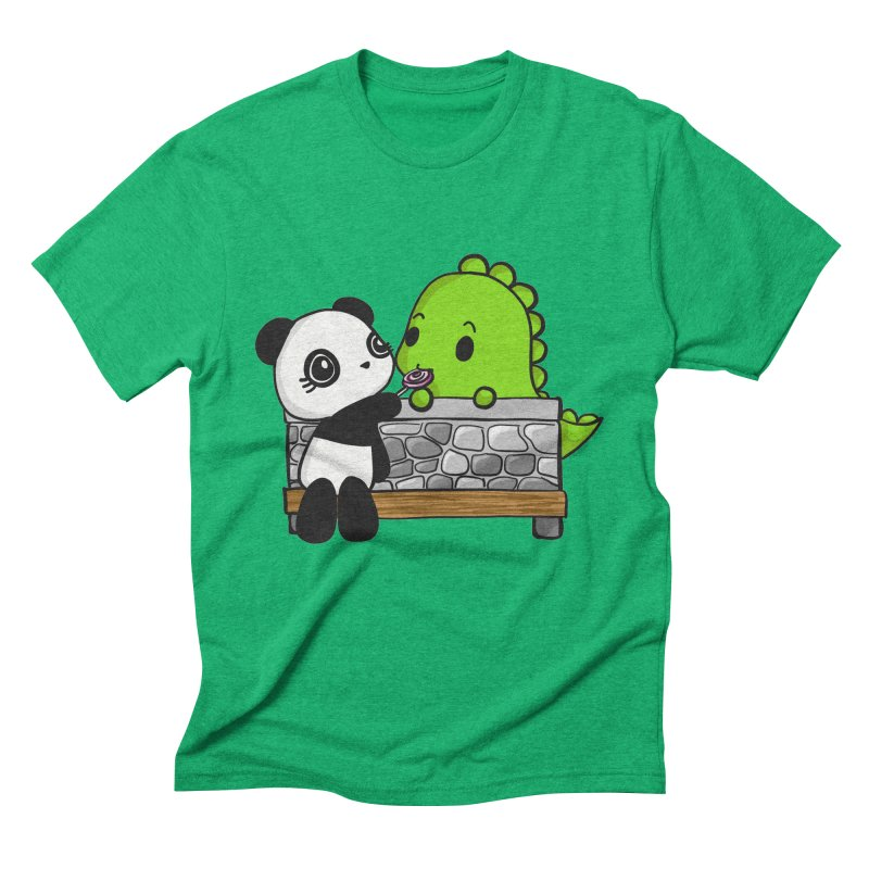 Sharing is Caring Men's Triblend T-Shirt by Dino & Panda Inc Artist Shop