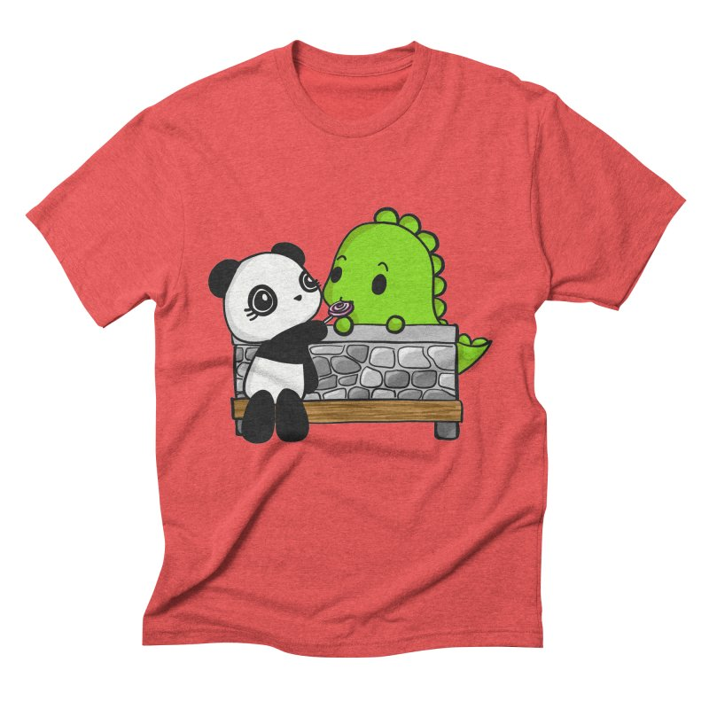 Sharing is Caring Men's Triblend T-Shirt by Dino & Panda Inc Artist Shop
