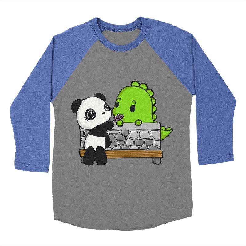 Sharing is Caring Women's Baseball Triblend Longsleeve T-Shirt by Dino & Panda Inc Artist Shop