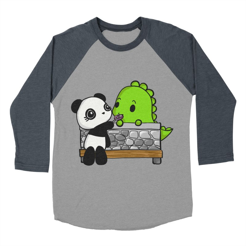Sharing is Caring Women's Baseball Triblend Longsleeve T-Shirt by Dino & Panda Inc Artist Shop