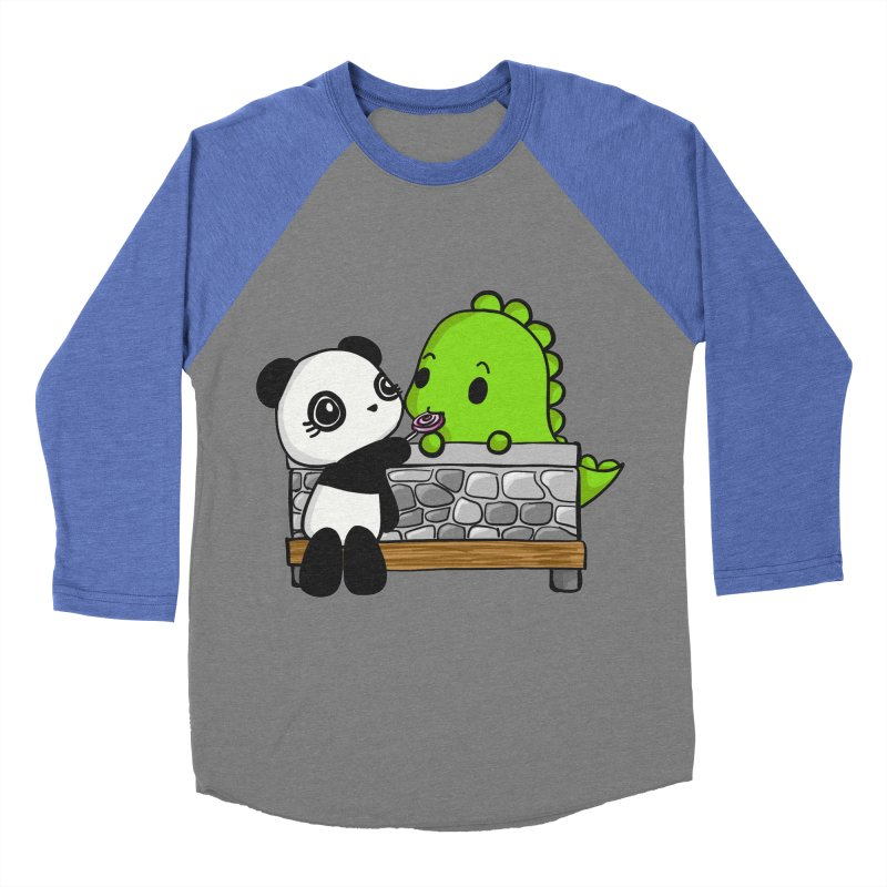 Sharing is Caring Men's Baseball Triblend Longsleeve T-Shirt by Dino & Panda Inc Artist Shop