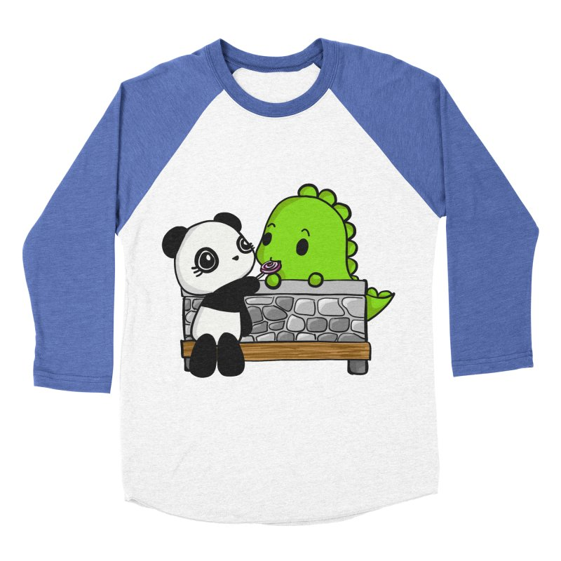 Sharing is Caring Men's Baseball Triblend T-Shirt by Dino & Panda Inc Artist Shop