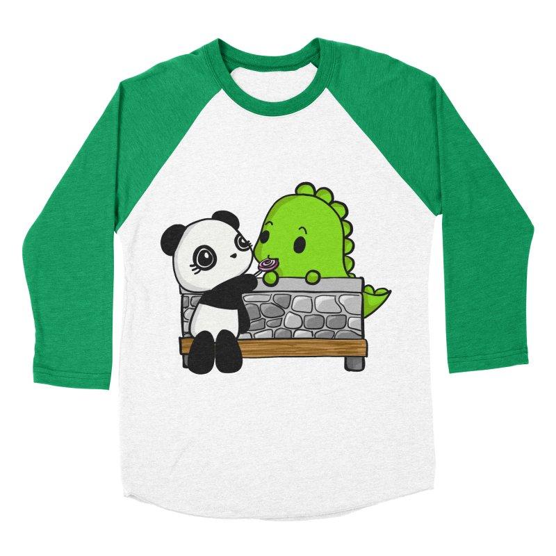 Sharing is Caring Men's Baseball Triblend Longsleeve T-Shirt by Dino & Panda Inc Artist Shop