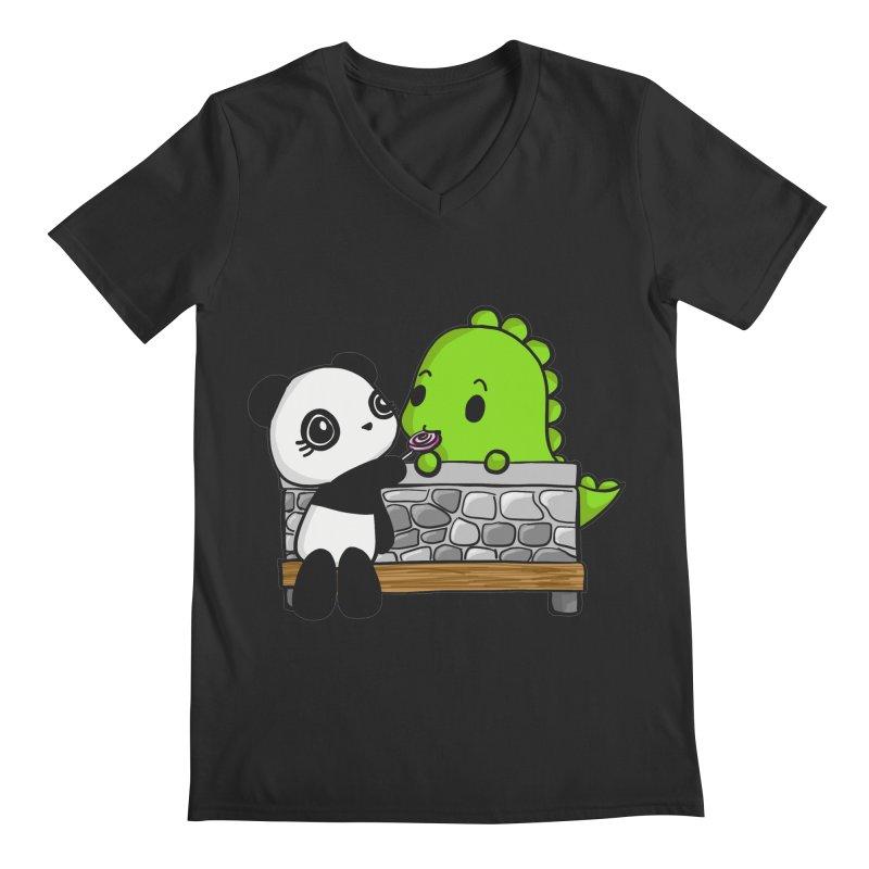 Sharing is Caring Men's V-Neck by Dino & Panda Inc Artist Shop