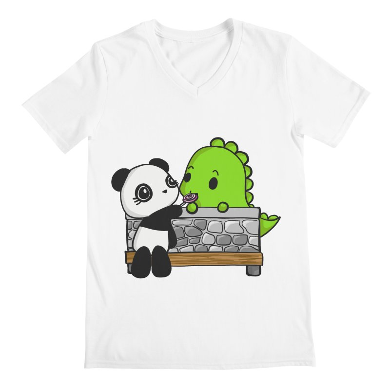 Sharing is Caring Men's V-Neck by Dino & Panda Inc Artist Shop