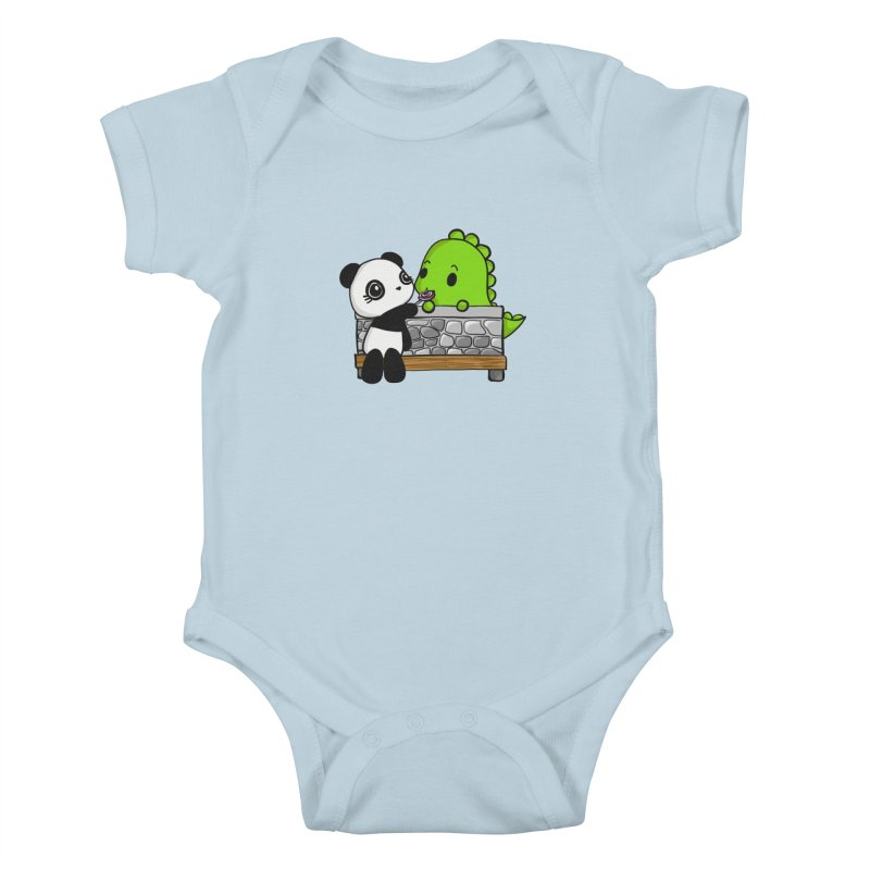 Sharing is Caring Kids Baby Bodysuit by Dino & Panda Inc Artist Shop