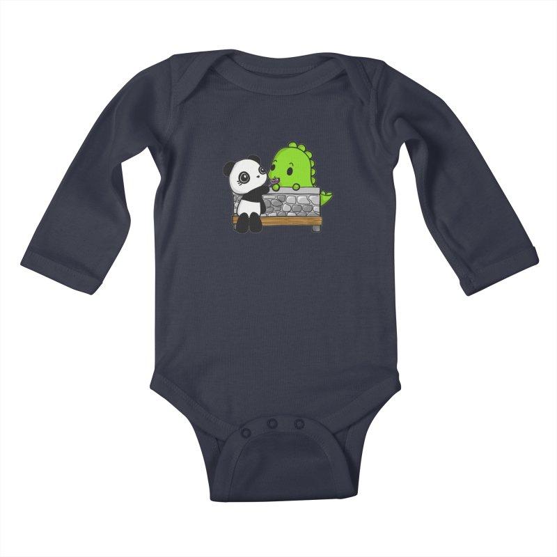 Sharing is Caring Kids Baby Longsleeve Bodysuit by Dino & Panda Inc Artist Shop