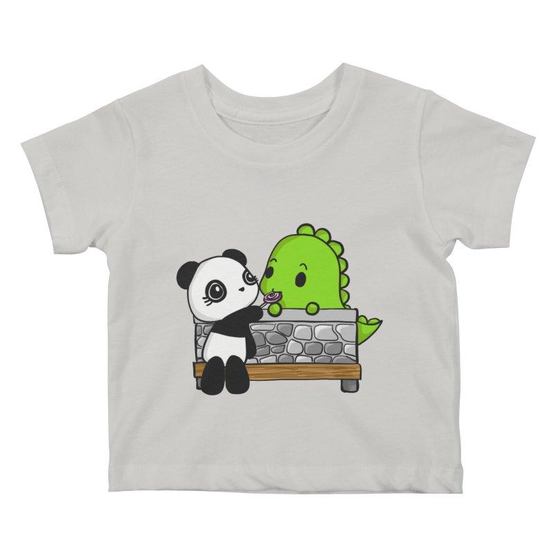 Sharing is Caring Kids Baby T-Shirt by Dino & Panda Inc Artist Shop