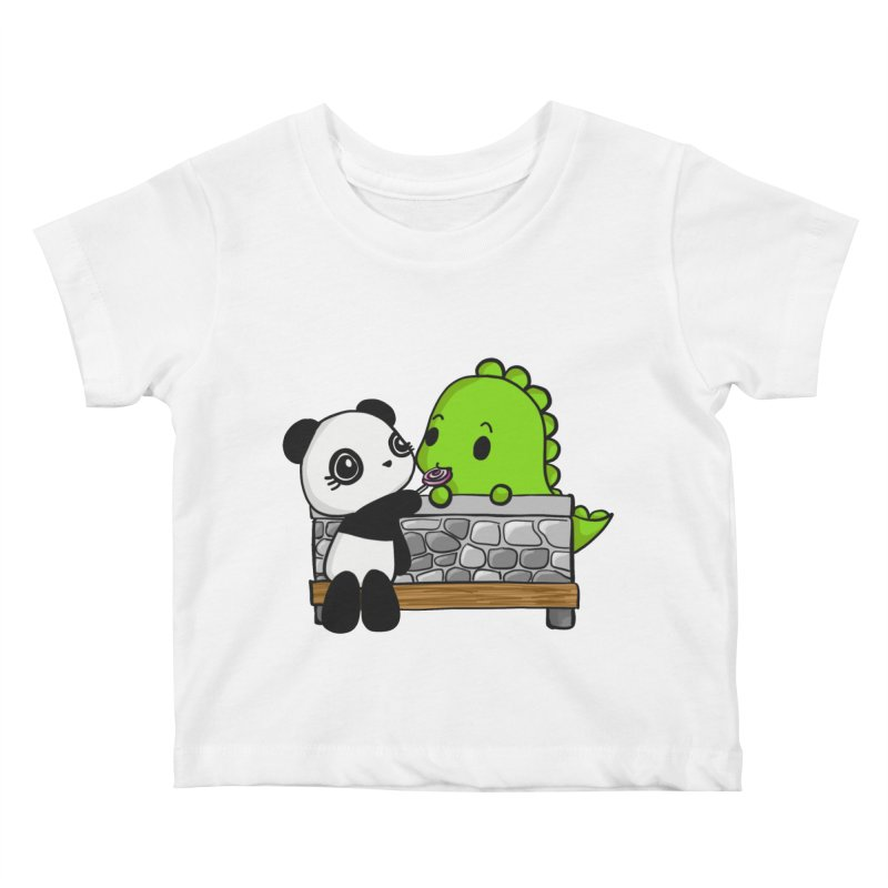 Sharing is Caring Kids Baby T-Shirt by Dino & Panda Inc Artist Shop