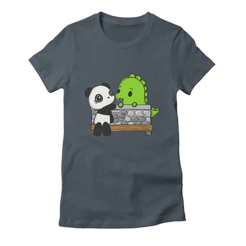 Sharing is Caring Women's T-Shirt by Dino & Panda Artist Shop
