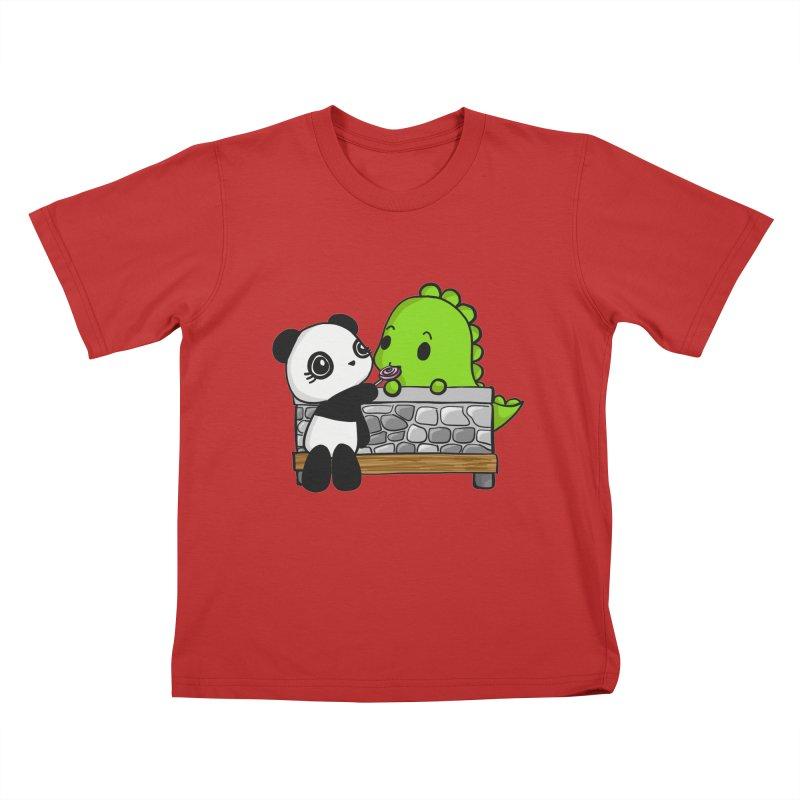 Sharing is Caring Kids T-Shirt by Dino & Panda Inc Artist Shop
