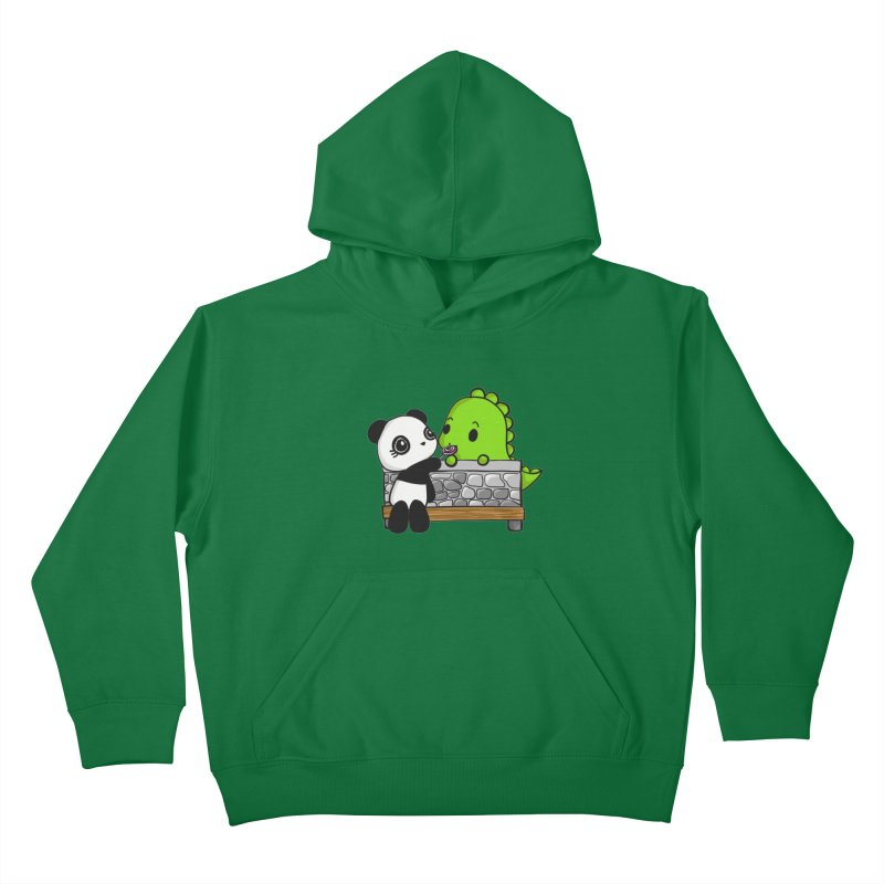 Sharing is Caring Kids Pullover Hoody by Dino & Panda Inc Artist Shop