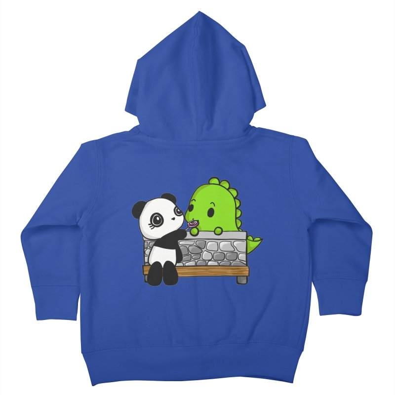 Sharing is Caring Kids Toddler Zip-Up Hoody by Dino & Panda Inc Artist Shop