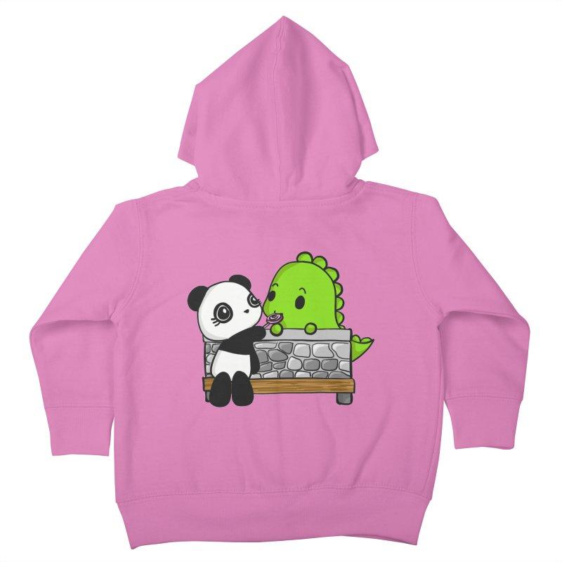 Sharing is Caring Kids Toddler Zip-Up Hoody by Dino & Panda Inc Artist Shop