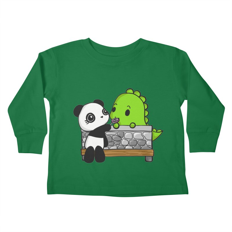 Sharing is Caring Kids Toddler Longsleeve T-Shirt by Dino & Panda Inc Artist Shop