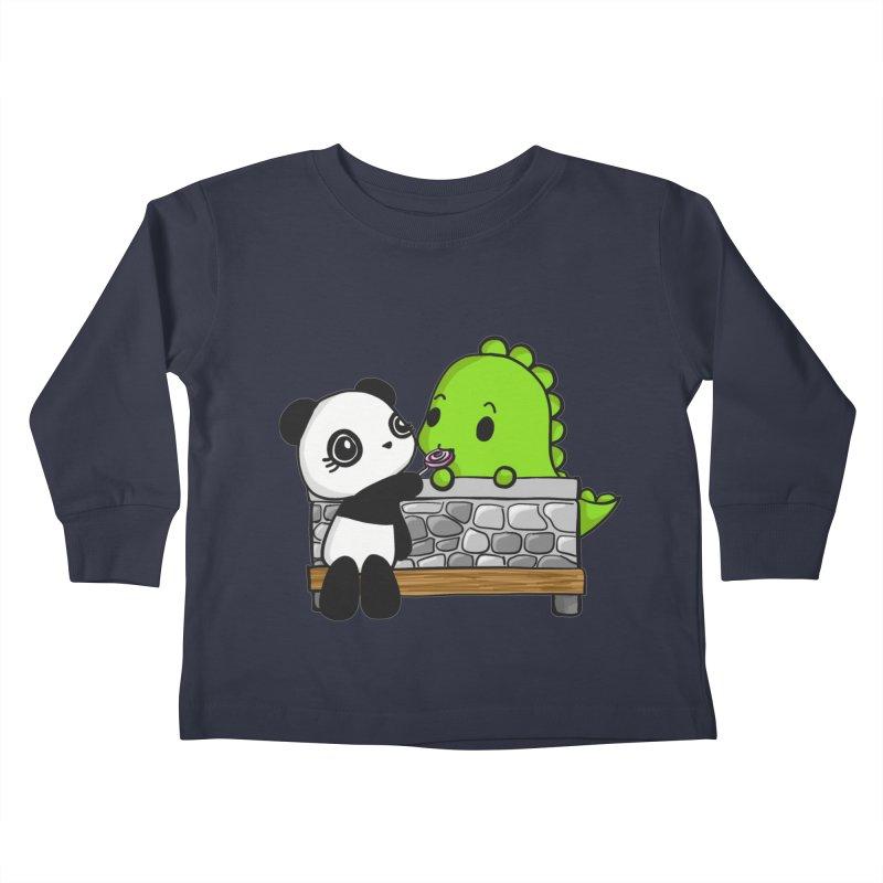 Sharing is Caring Kids Toddler Longsleeve T-Shirt by Dino & Panda Inc Artist Shop