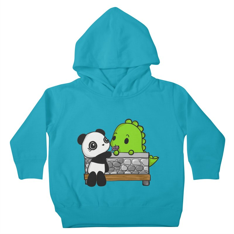 Sharing is Caring Kids Toddler Pullover Hoody by Dino & Panda Inc Artist Shop
