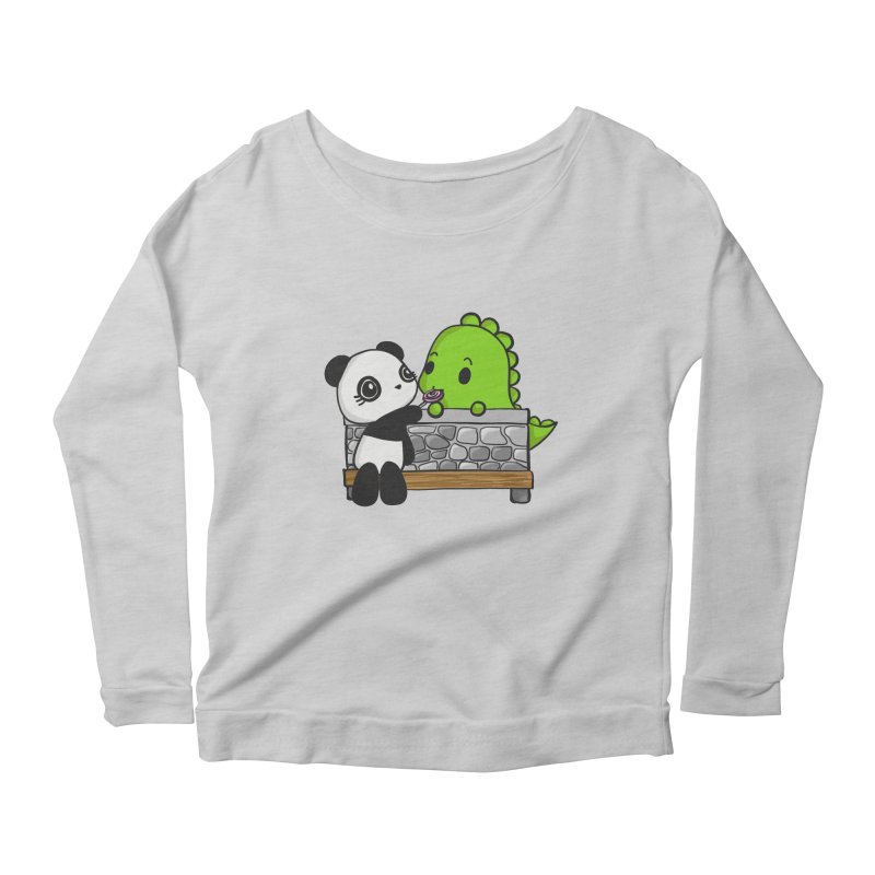Sharing is Caring Women's Scoop Neck Longsleeve T-Shirt by Dino & Panda Inc Artist Shop