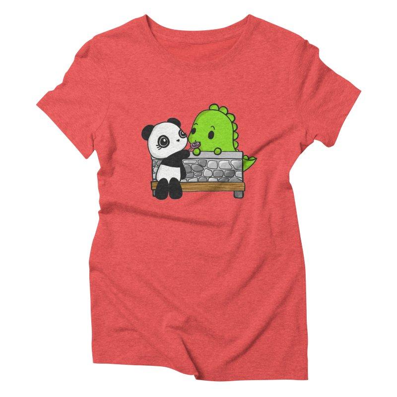 Sharing is Caring Women's Triblend T-Shirt by Dino & Panda Inc Artist Shop