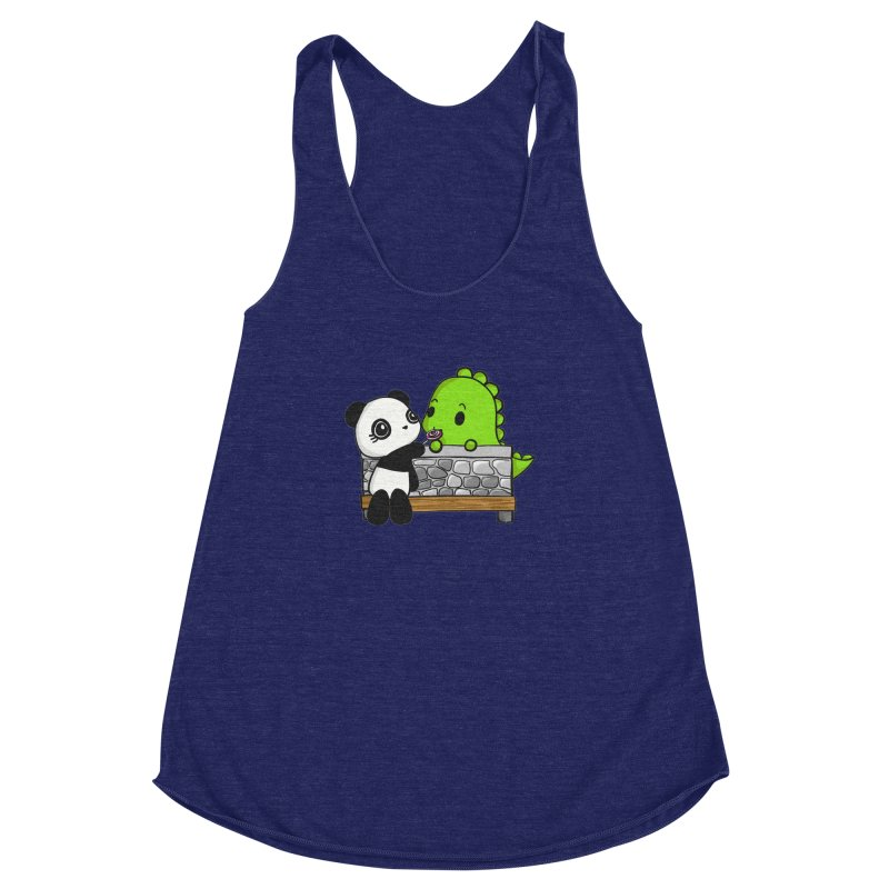 Sharing is Caring Women's Racerback Triblend Tank by Dino & Panda Inc Artist Shop