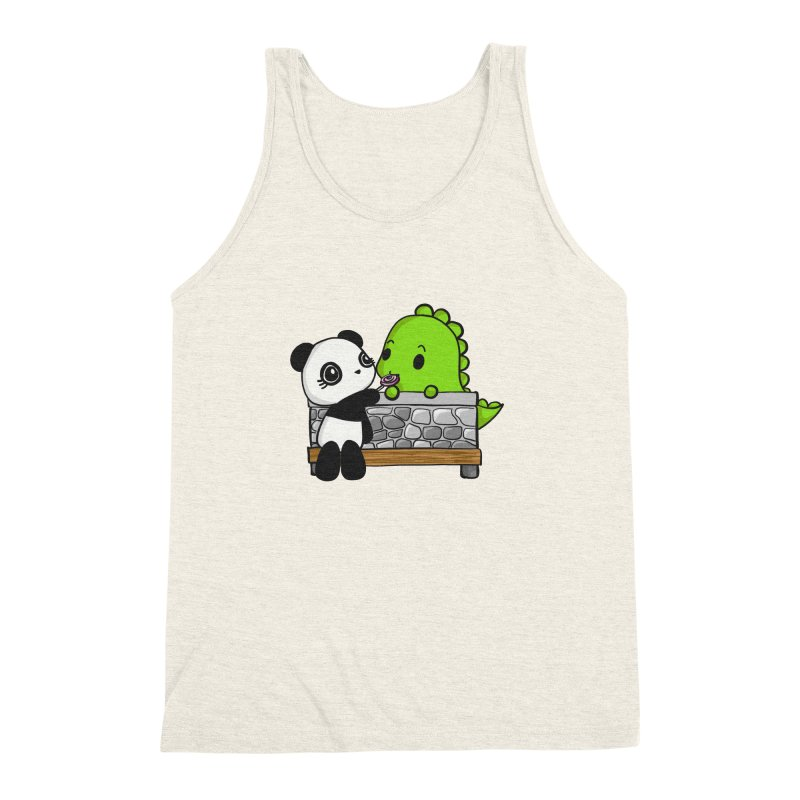 Sharing is Caring Men's Triblend Tank by Dino & Panda Inc Artist Shop