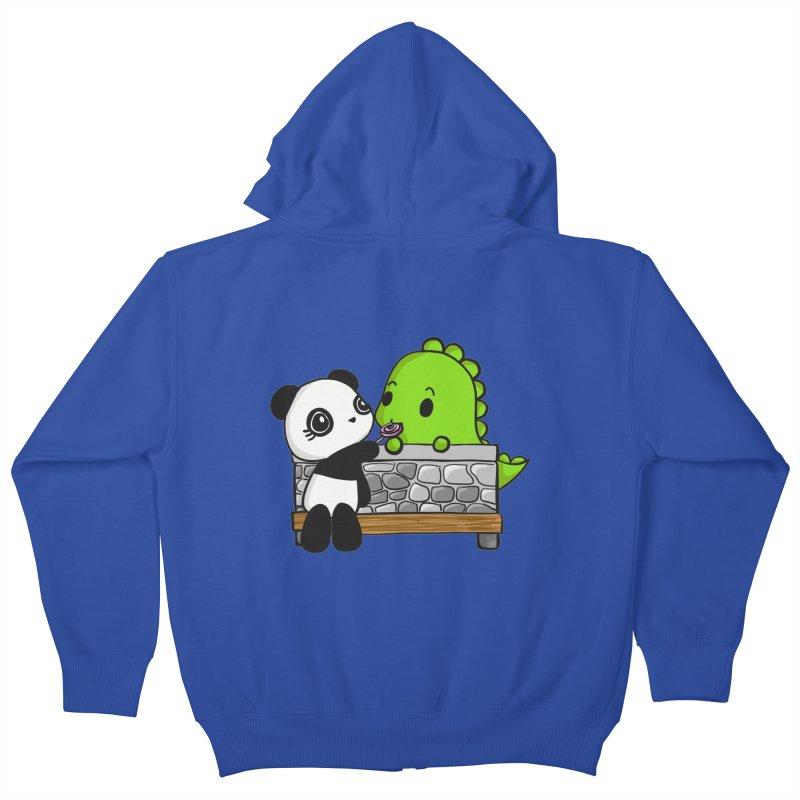 Sharing is Caring Kids Zip-Up Hoody by Dino & Panda Inc Artist Shop