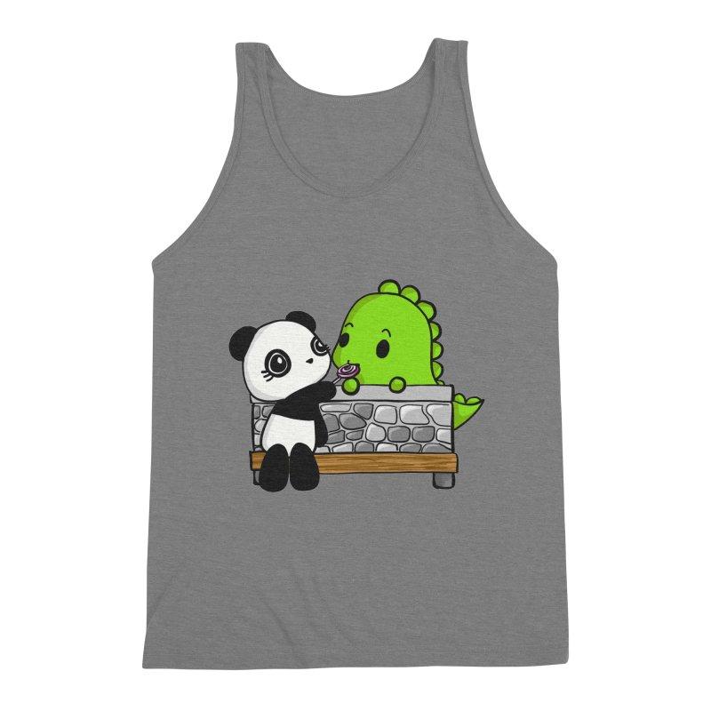 Sharing is Caring Men's Triblend Tank by Dino & Panda Inc Artist Shop