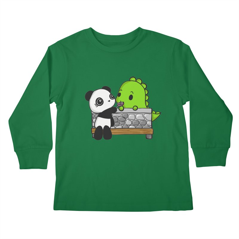 Sharing is Caring Kids Longsleeve T-Shirt by Dino & Panda Inc Artist Shop