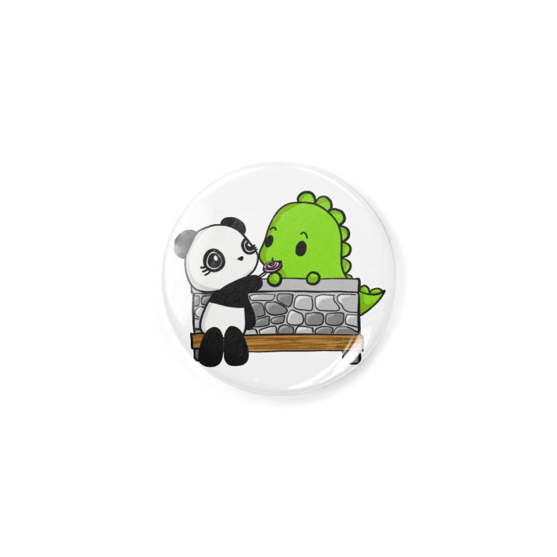 Sharing is Caring Accessories Button by Dino & Panda Artist Shop
