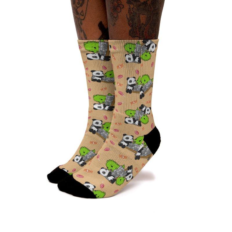 Sharing is Caring Women's Socks by Dino & Panda Artist Shop