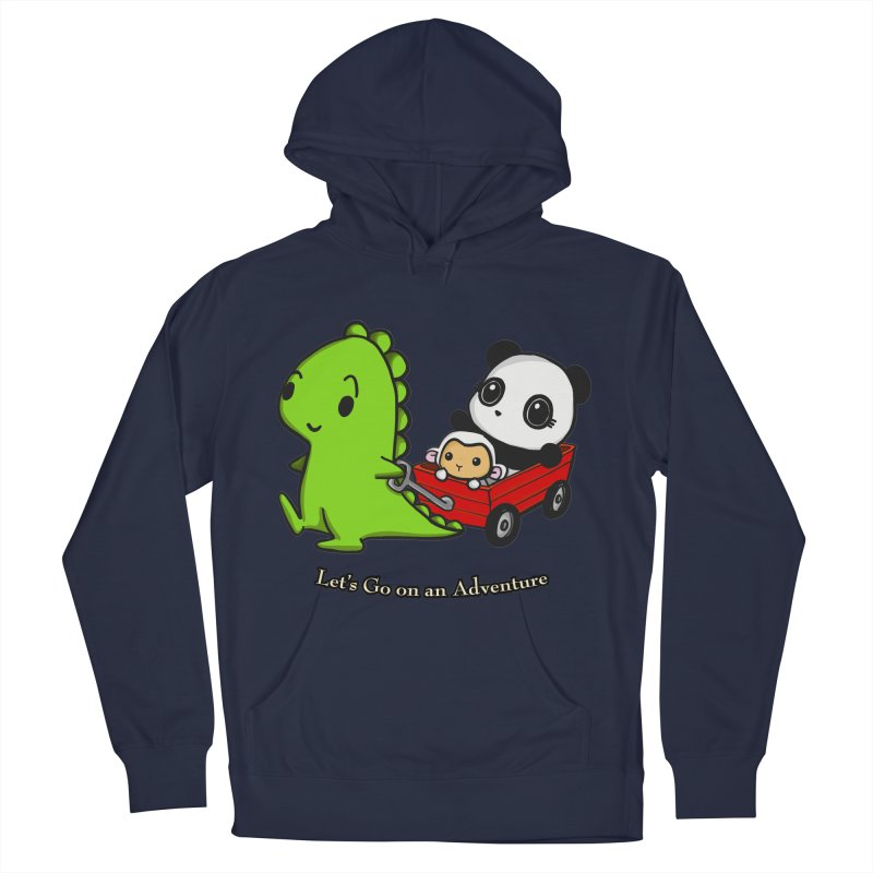 Wagon Ride Men's Pullover Hoody by Dino & Panda Inc Artist Shop