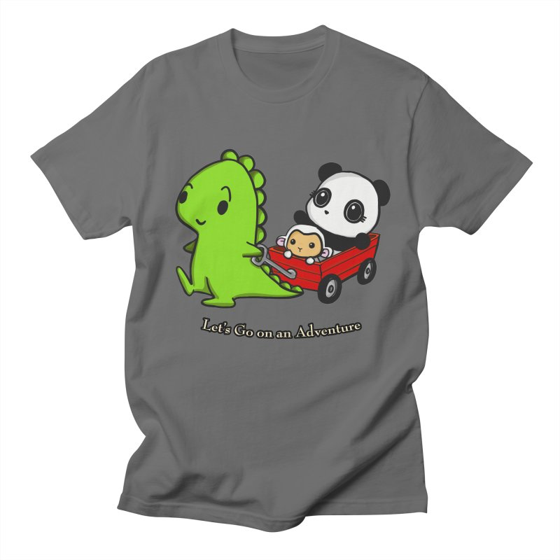 Wagon Ride Men's T-Shirt by Dino & Panda Inc Artist Shop