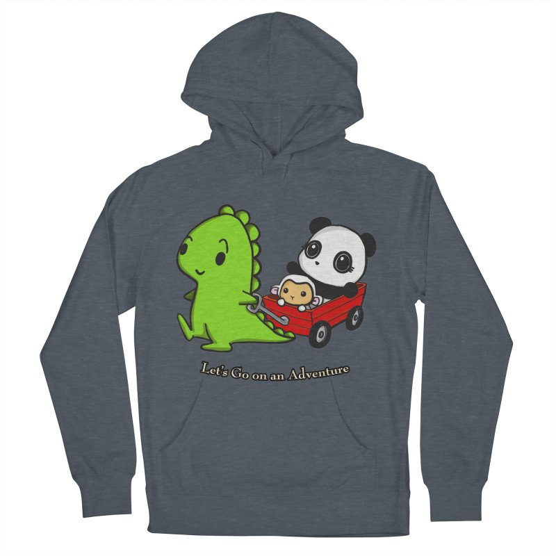 Wagon Ride Women's French Terry Pullover Hoody by Dino & Panda Inc Artist Shop