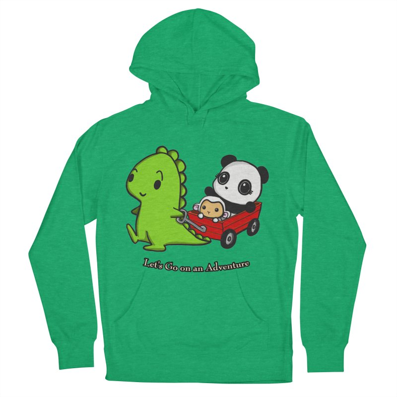Wagon Ride Men's French Terry Pullover Hoody by Dino & Panda Inc Artist Shop