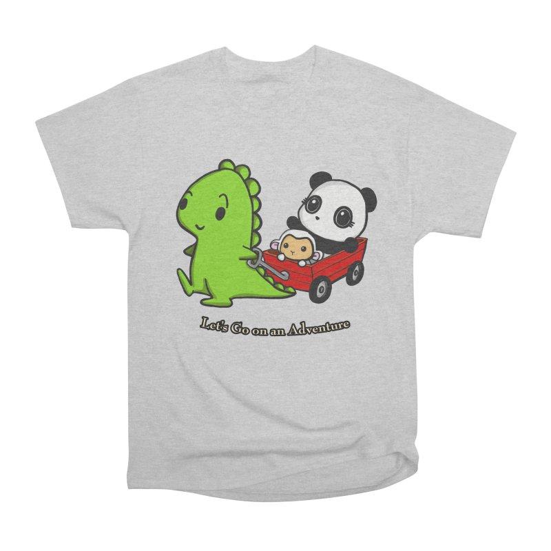 Wagon Ride Women's Heavyweight Unisex T-Shirt by Dino & Panda Inc Artist Shop