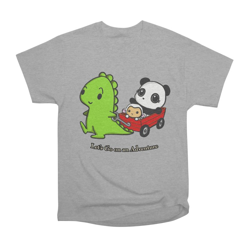 Wagon Ride Men's Heavyweight T-Shirt by Dino & Panda Inc Artist Shop