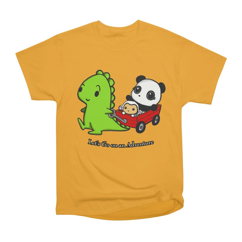 Wagon Ride Women's Heavyweight Unisex T-Shirt by Dino & Panda Inc Artist Shop