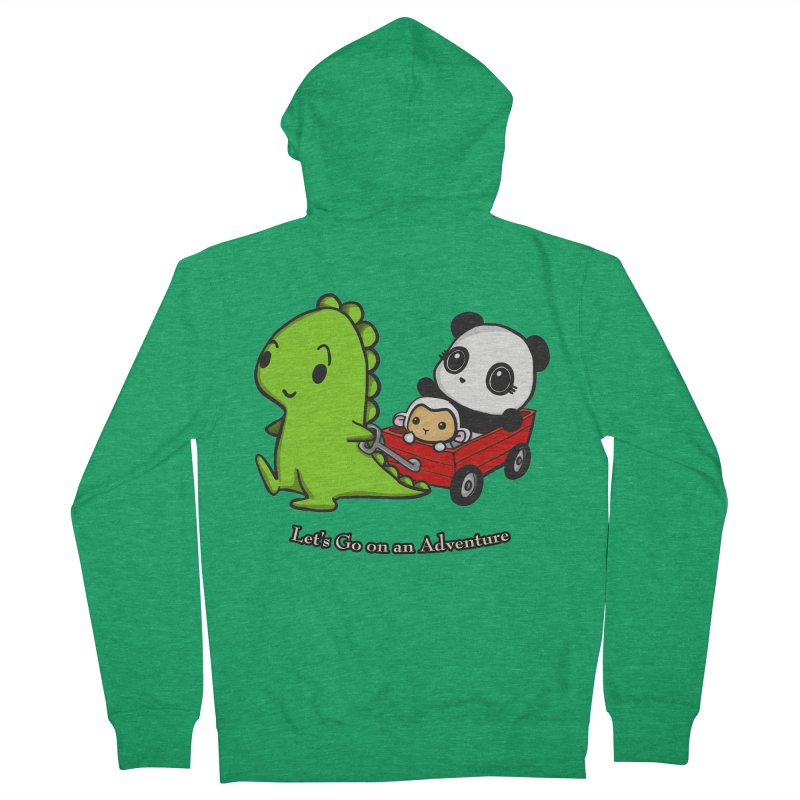 Wagon Ride Women's French Terry Zip-Up Hoody by Dino & Panda Inc Artist Shop